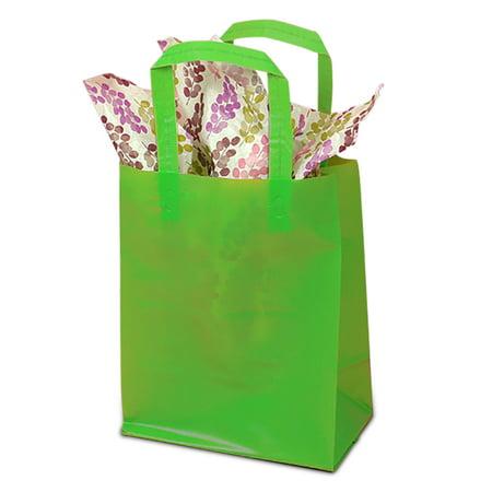 Hdpe Lime Green Handle Gift Bags 5