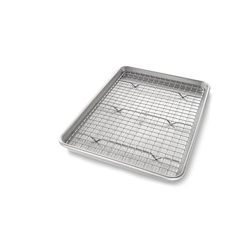Small Jelly Roll Pan - 1605CR Jelly Roll Baking Pan and Bakeable Nonstick Cooling Rack, Metal By USA Pan