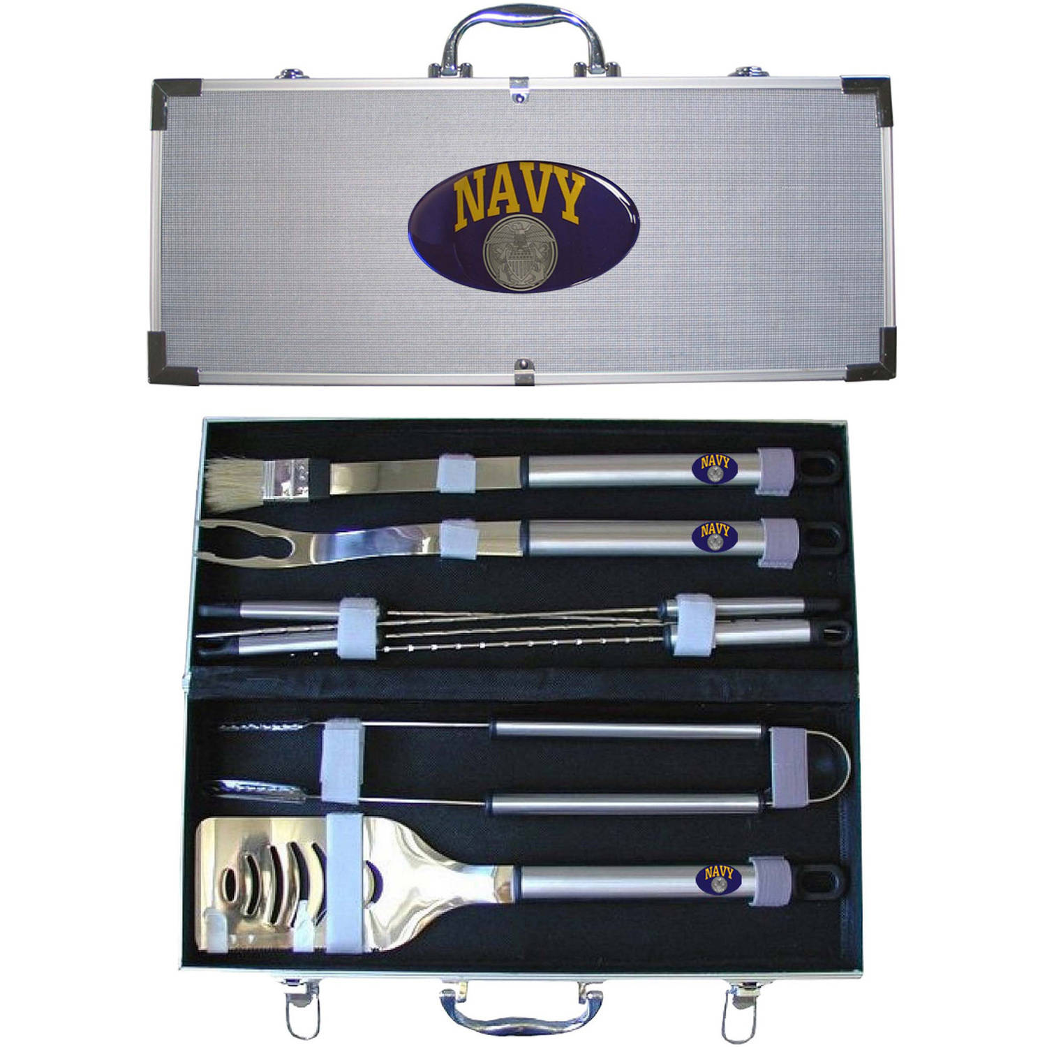 American Heroes 8-Piece BBQ Set with Hard Case, United States Navy