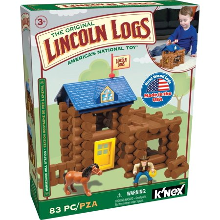 LINCOLN LOGS – Horseshoe Hill Station - 83 Pieces