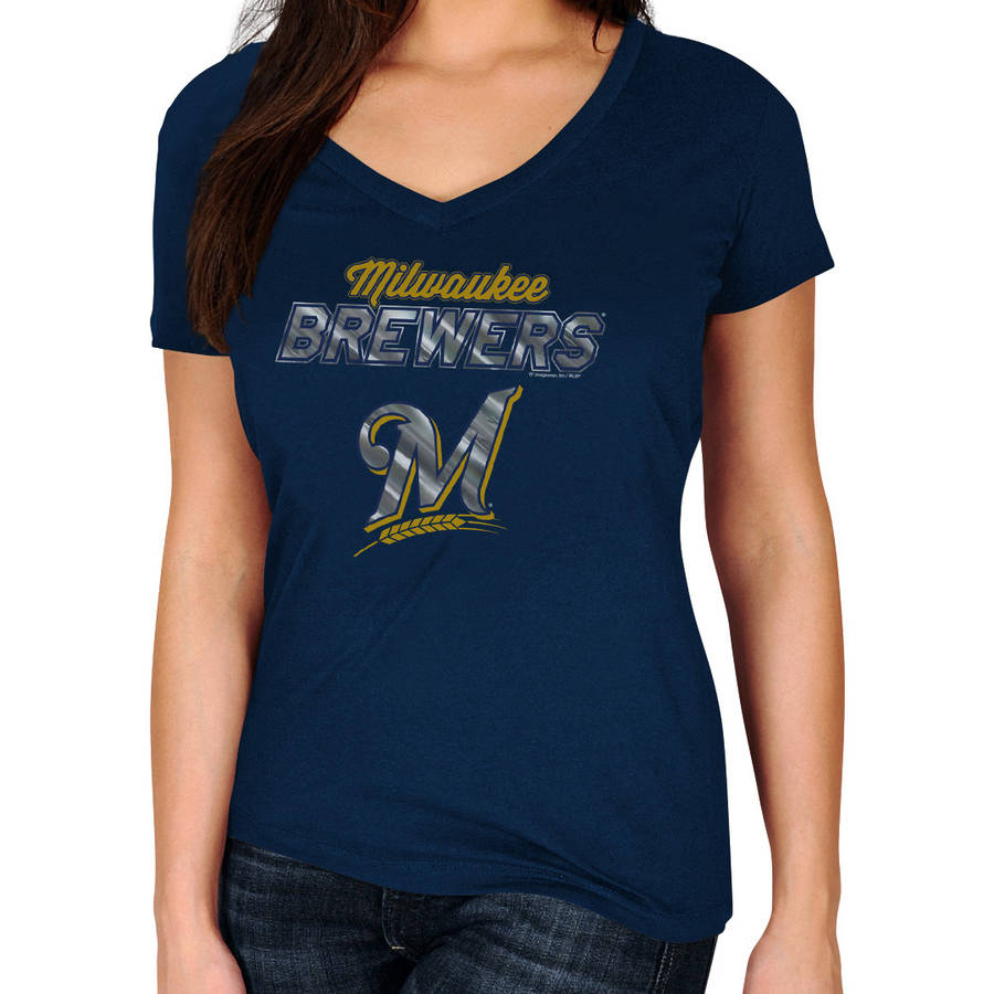MLB Milwaukee Brewers Plus Size Women's Basic Tee