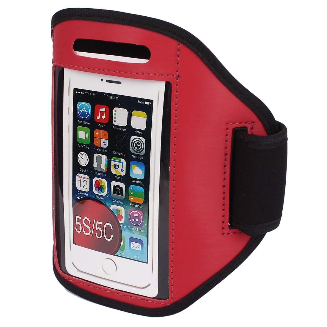 red iphone 5c sports running armband cover holder 4944