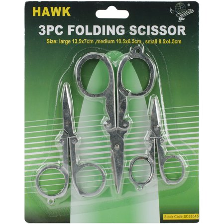 Folding Scissor Set 3pcs-