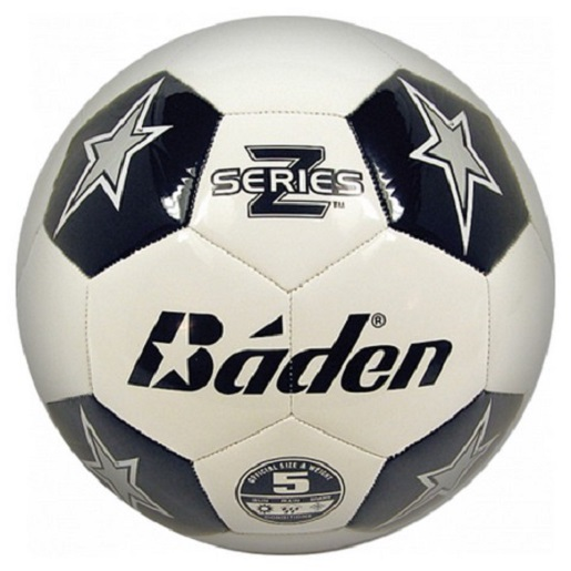 Baden Sports S150D-701 Soccer Ball White/Black Stars Size 5
