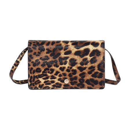 Animal Print Stadium Event Crossbody Bag