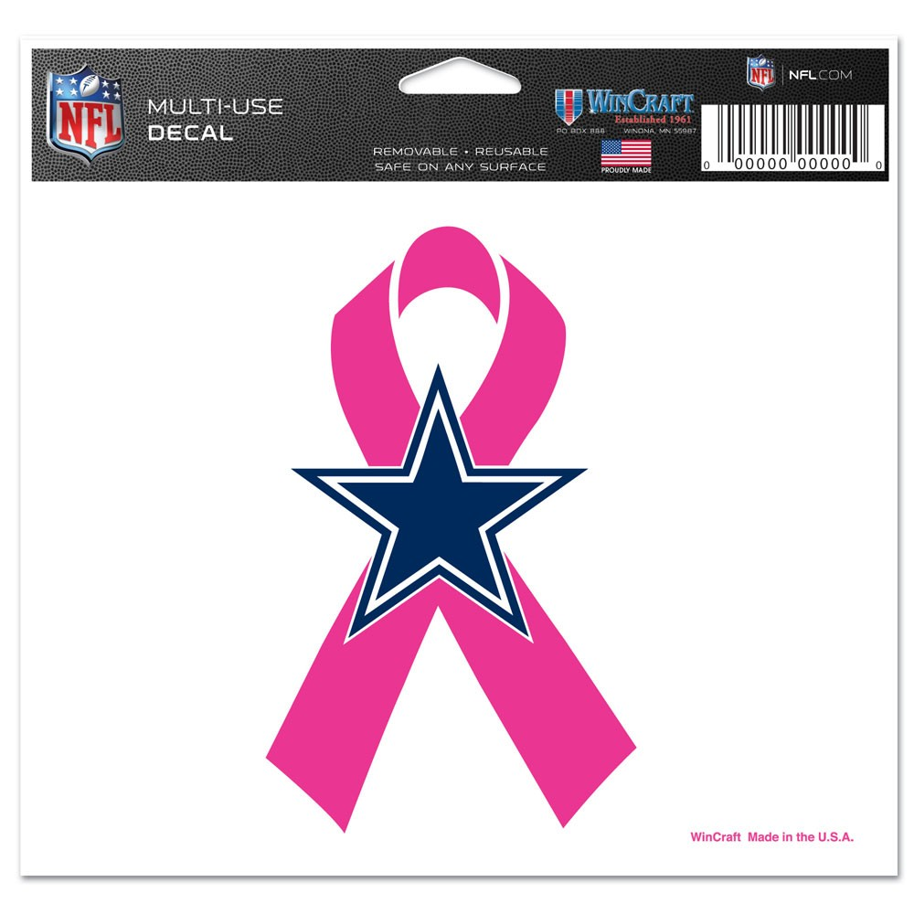 Dallas Cowboys Official NFL 4 inch x 6 inch  Car Window Cling Decal by Wincraft