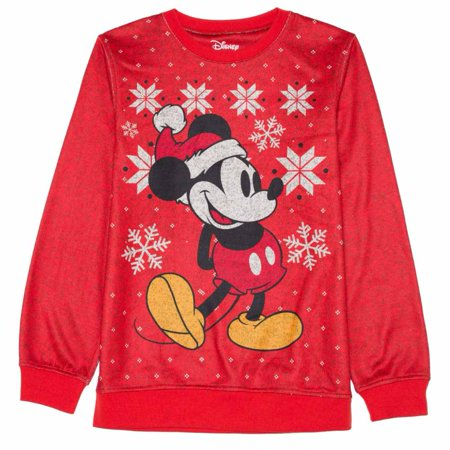 disney boys red classic mickey mouse christmas sweater