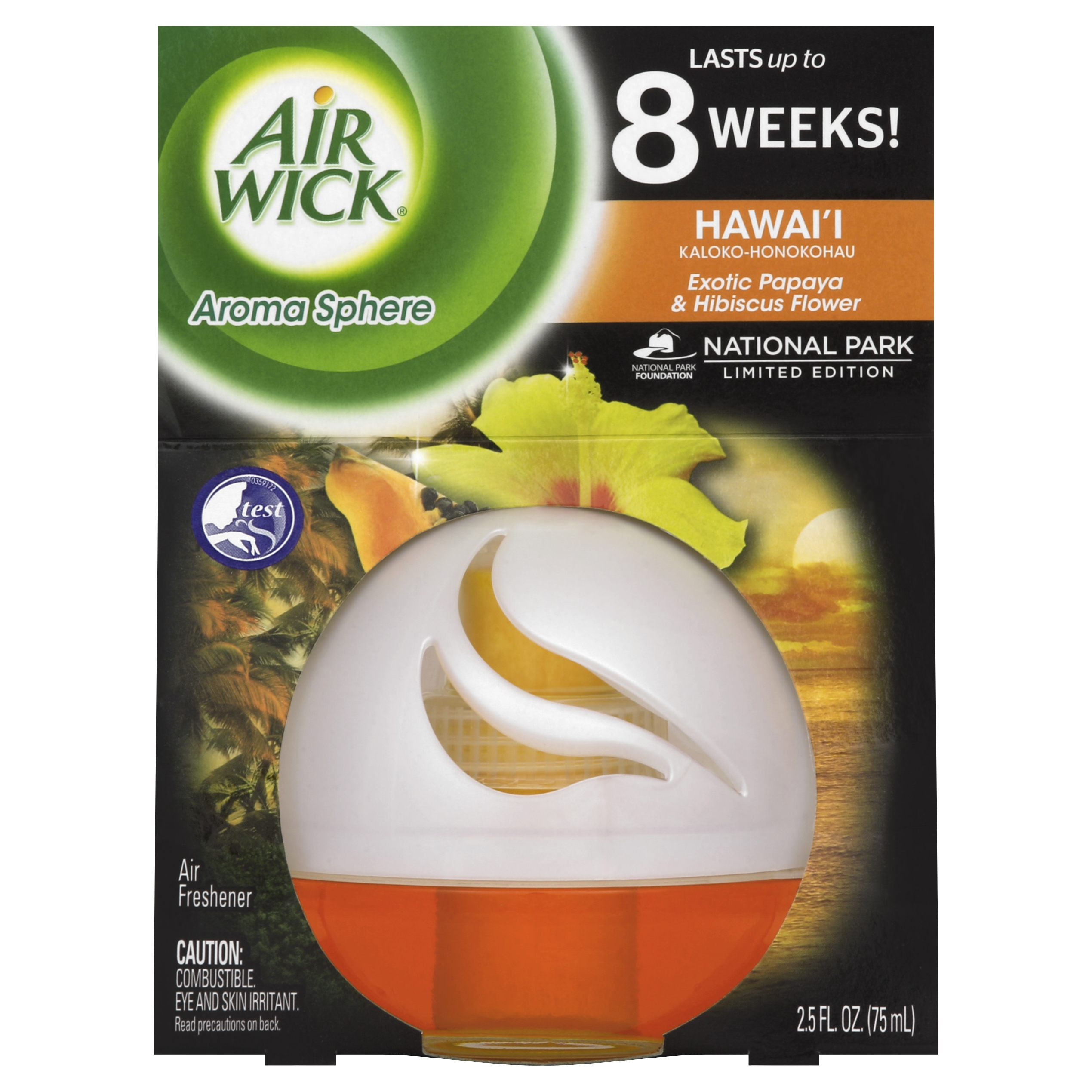 Air Wick Room Air Freshener, Exotic Papaya and Hibiscus Flower, 2.5 Oz
