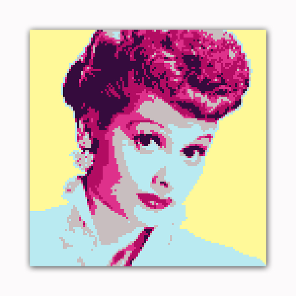 Comedienne 8 Bit Modern Printed on Canvas Stretched Framed Ready to Hang