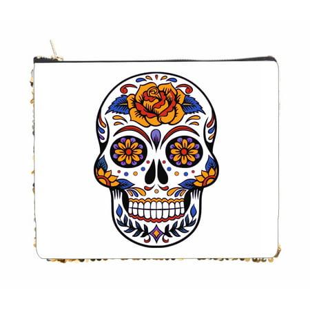 Floral Sugar Skull - 6.5
