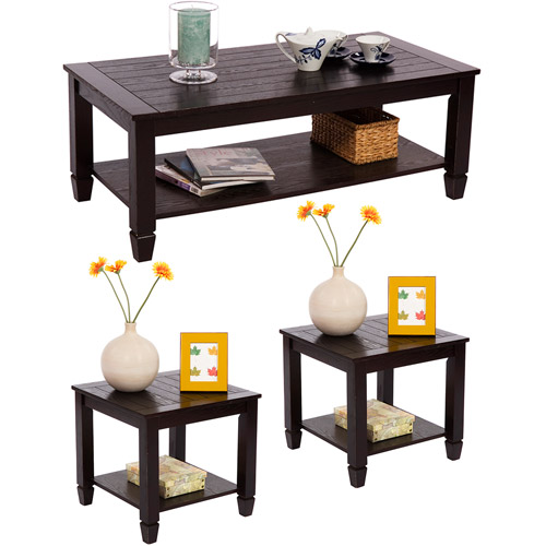 Zenith 3-Piece Cocktail and End Tables Value Bundle, Espresso