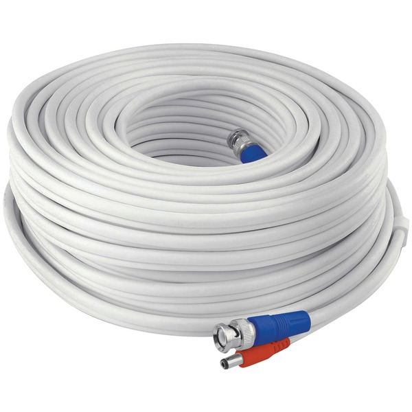Swann SWPRO-60MTVF-GL Fire-Rated BNC Video/Power Extension Cable, 200'