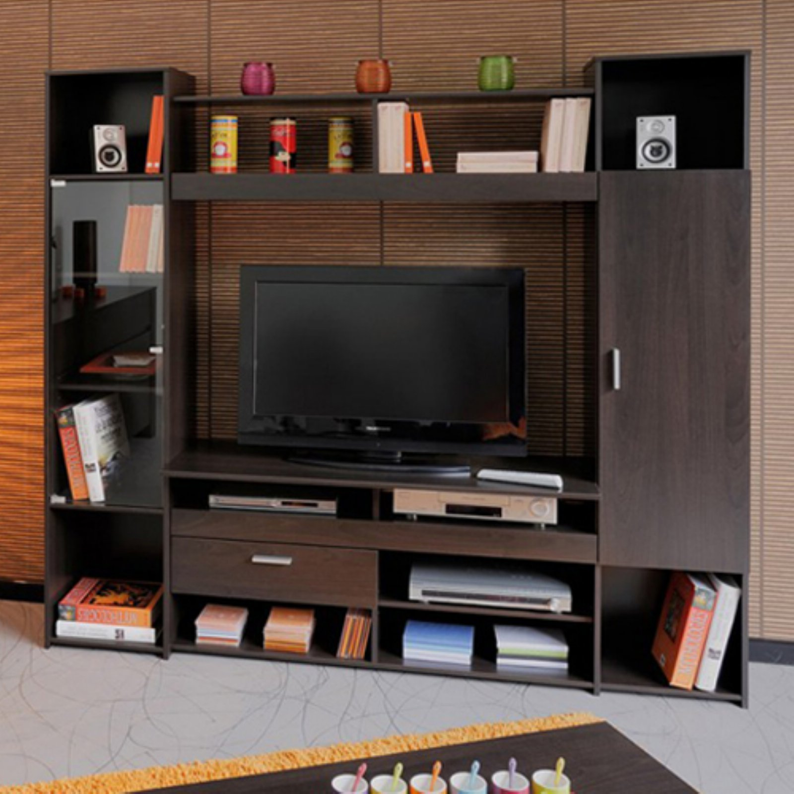 Parisot Amber Entertainment Center   Dark Coffee