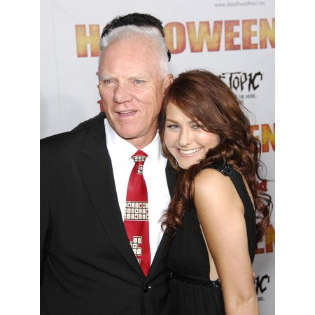 Malcolm Mcdowell Scout Taylor-Compton At Arrivals For Premiere Of Rob ZombieS Halloween GraumanS Chinese Theatre Los Angeles Ca August 23 2007 Photo By Michael GermanaEverett Collection Celebrity