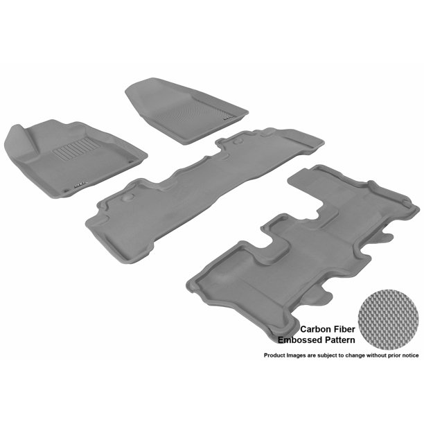 3D MAXpider 2007-2013 Acura MDX Front, Second, & Third Row