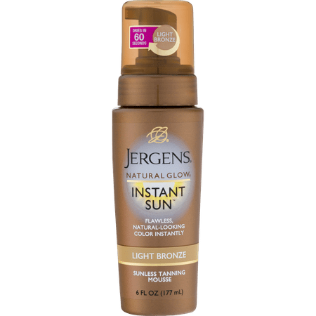 Jergens Natural Glow Instant Sun™ Light Bronze Sunless Tanning Mousse 6 fl. oz. Pump