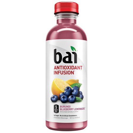 Bai Antioxidant Infused Beverage, Burundi Blueberry Lemonade, 18 Fl Oz