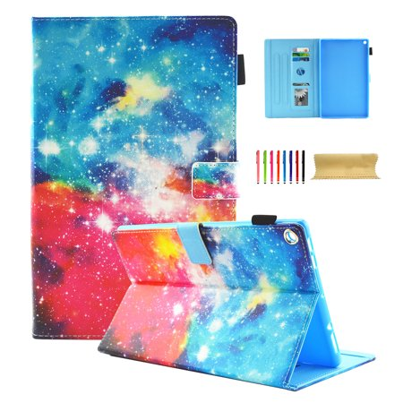 Flip Cover Case Kindle - Kindle Fire HD 8 Case, Dteck Card Holder Lightweight PU Leather Flip Stand Cover Auto Wake / Sleep