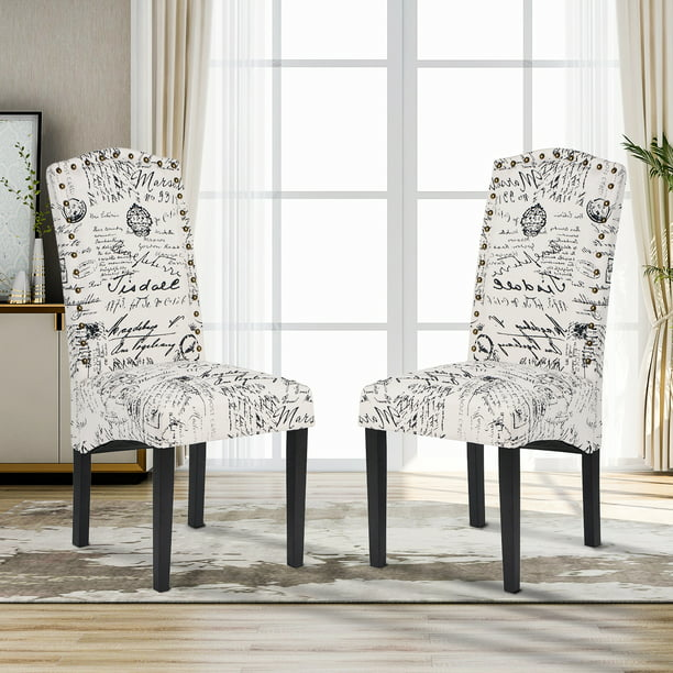 Linen Fabric Dining Chairs, Fabric For Dining Room Chairs