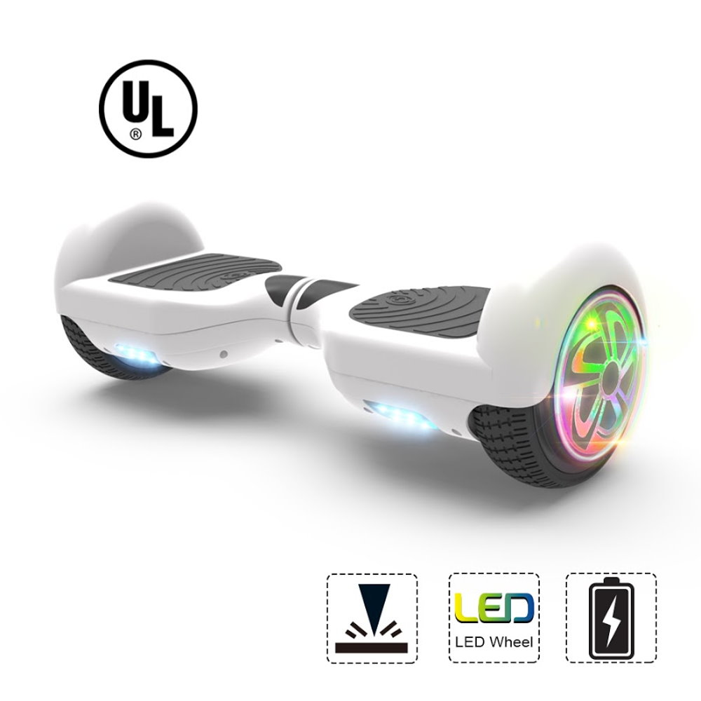 "Hoverboard Two-Wheel Self Balancing Electric Scooter 6.5"" UL 2272 Certified with Bluetooth Speaker and LED Light (ORANGE)"