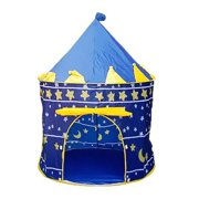 Ktaxon Foldable Kids Play Tent Boys Girls Princess Castle Outdoor Play House with a Carrying Bag-Blue