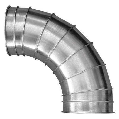 "Nordfab 7"" Round 90 Deg. Elbow Duct Fitting, 22 ga. SS, 3210-0790-207000"