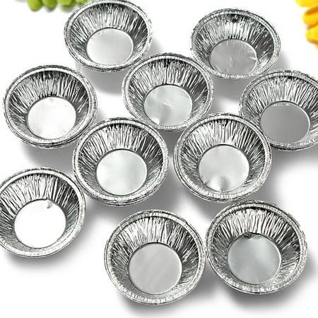 125Pcs Mini Shells Disposable Aluminum Foil Baking Cookie Muffin Cupcake Egg Mold Round Tins - Large Cupcake Pan