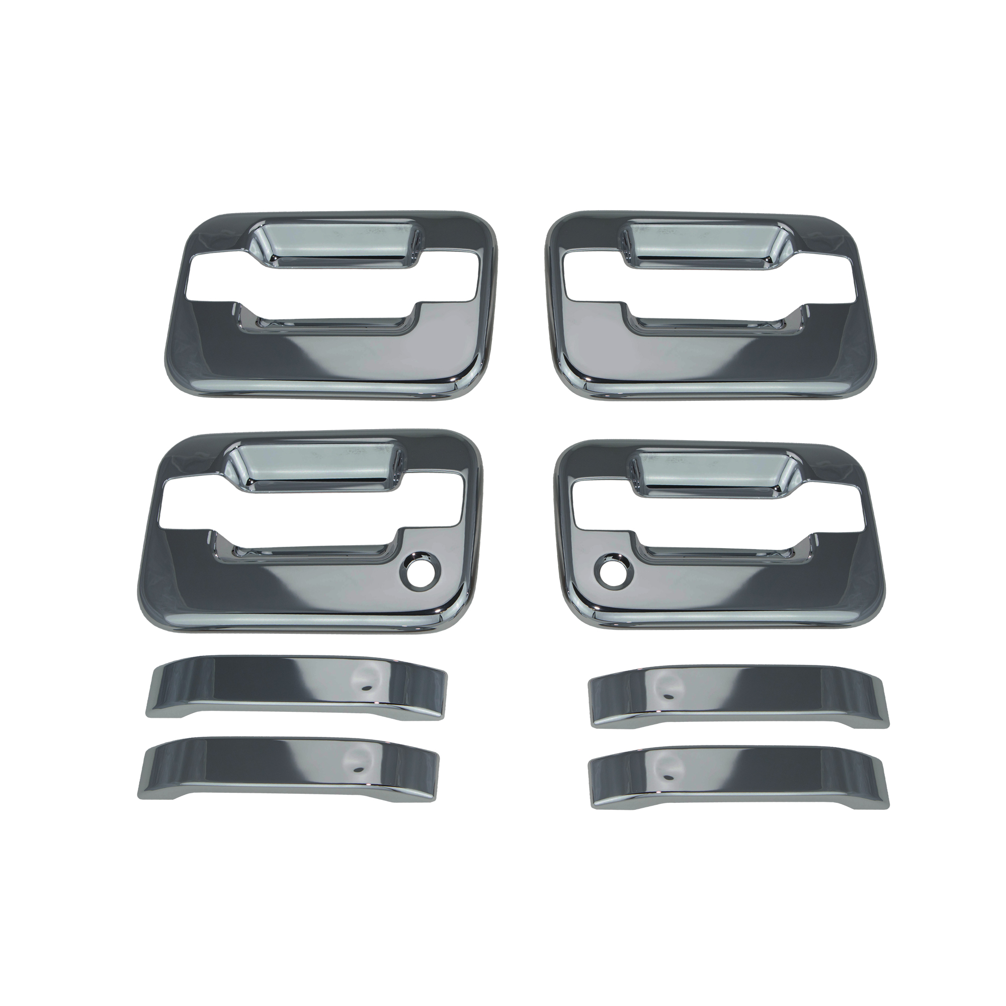 FORD F-150 F150 04-14 Chrome 2 Door Handle Cover W//Passenger Keyhole W//O Keypad