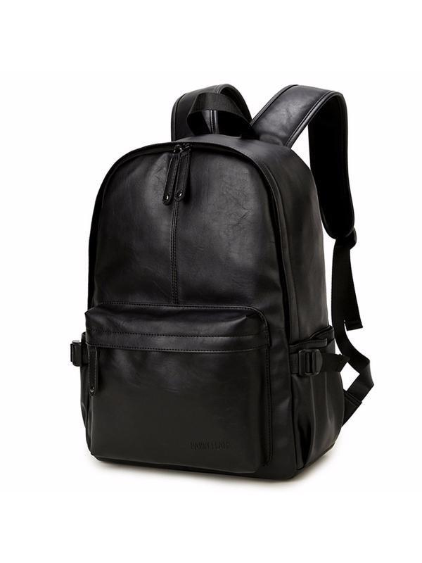 Men's Vintage Black Travel Large Leather
