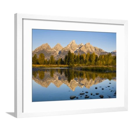 Sunrise Over The Grand Teton Mountains At Schwabacher