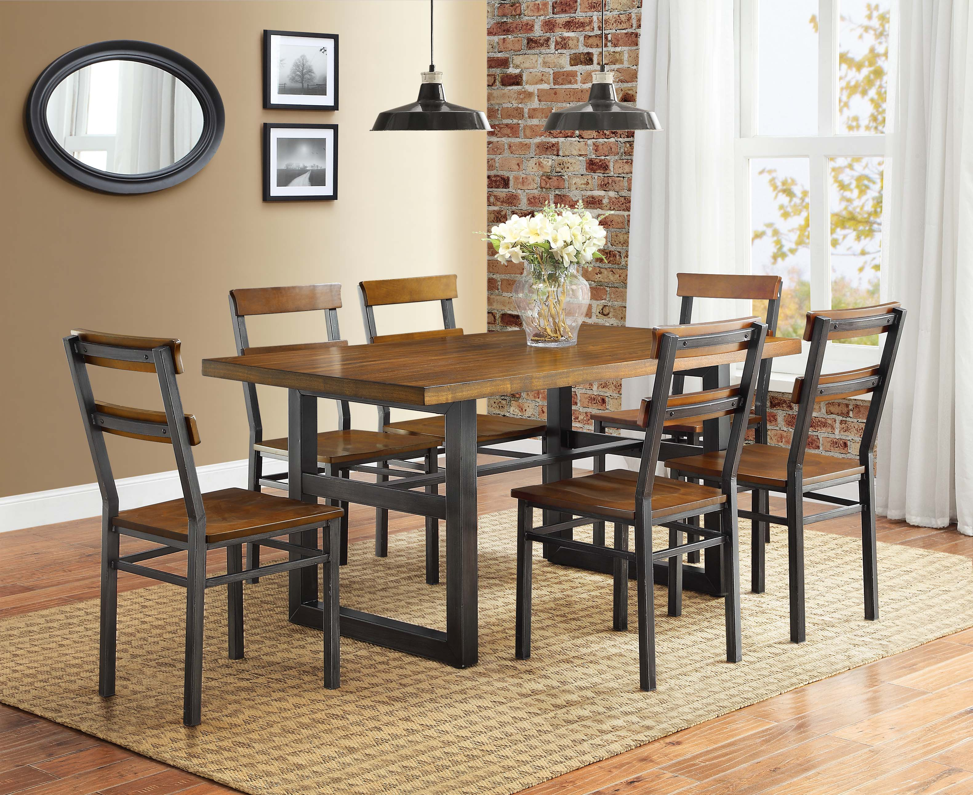 better homes and gardens mercer 7 piece dining set