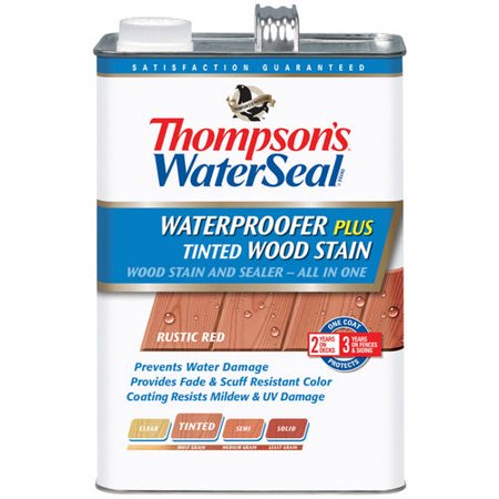 Thompson's Waterseal Waterproofing Stain, Tinted, 1 Gal, Rustic (Thompson Water Seal On Pressure Treated Wood)