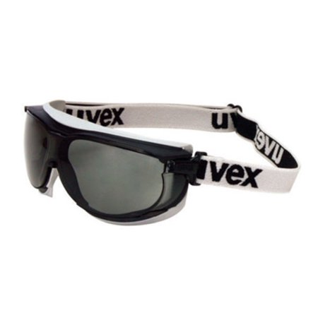 Uvex Carbonvision Impact Goggles With Black and Gray Frame, Gray Dura-Streme Anti-Fog, Anti-Scratch Lens And Fabric Headband