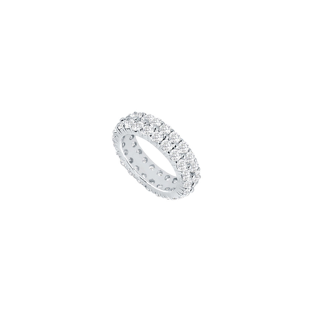 Jewelry 2 Carat Platinum Diamond Eternity Band April Birthstone Gift