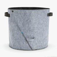 BarkBox Felt Toy Bin; Home Storage Stylish Felt Toy Bin; Compact 11.5x12.5 Multiuse Pet Storage Bin