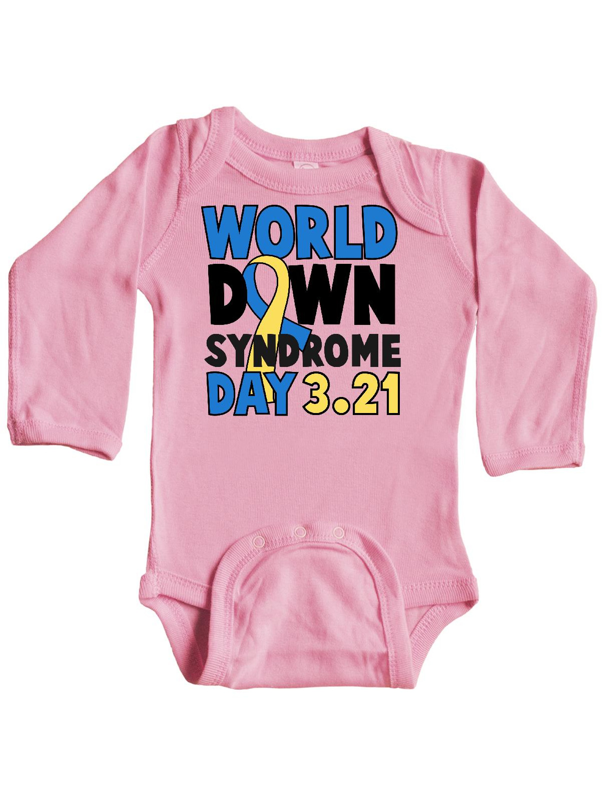 inktastic World Down Syndrome Day with Yellow and Blue Long Sleeve Creeper