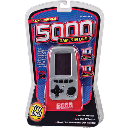 Electronic Arcade with 5,000 Games, Red