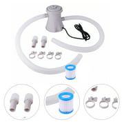 pump, 1 Set of Swimming Pool Electric Filter Pump Swimming Pool Cleaning Tool Circulation Filter With US Plug