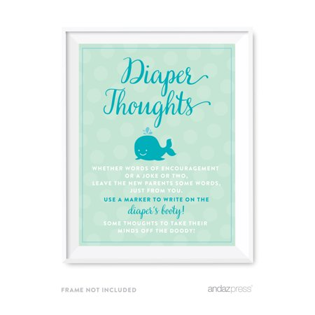 Diaper Thoughts Boy Whale Nautical Baby Shower Game Diaper Thoughts Party - Sign Of The Whale Halloween