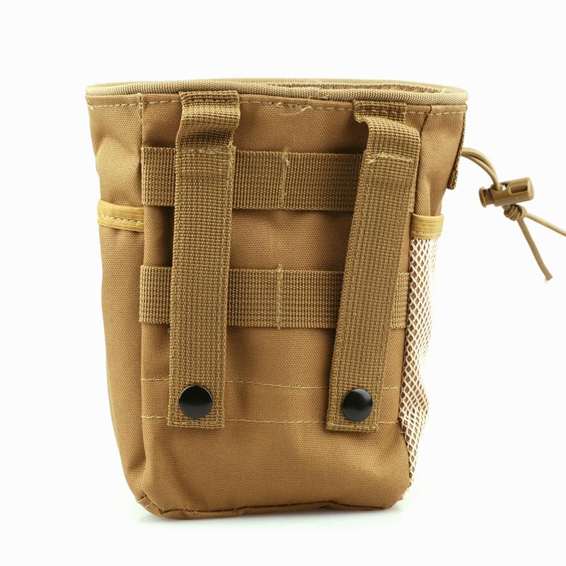 Tactical Magazine Utility Drop Dump Pouch Molle Military Gun Ammo Bag, Black