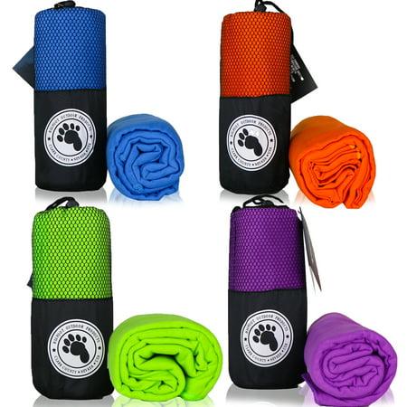 Bigfoot Outdoor Microfiber Towel (4-Pack; Green + Blue + Orange + Purple) ()