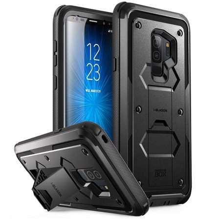 new arrival 173e5 dff69 i-Blason Galaxy S9 Case, Armorbox Full body Heavy Duty Protection Bumper  Case WITHOUT Screen Protector Black