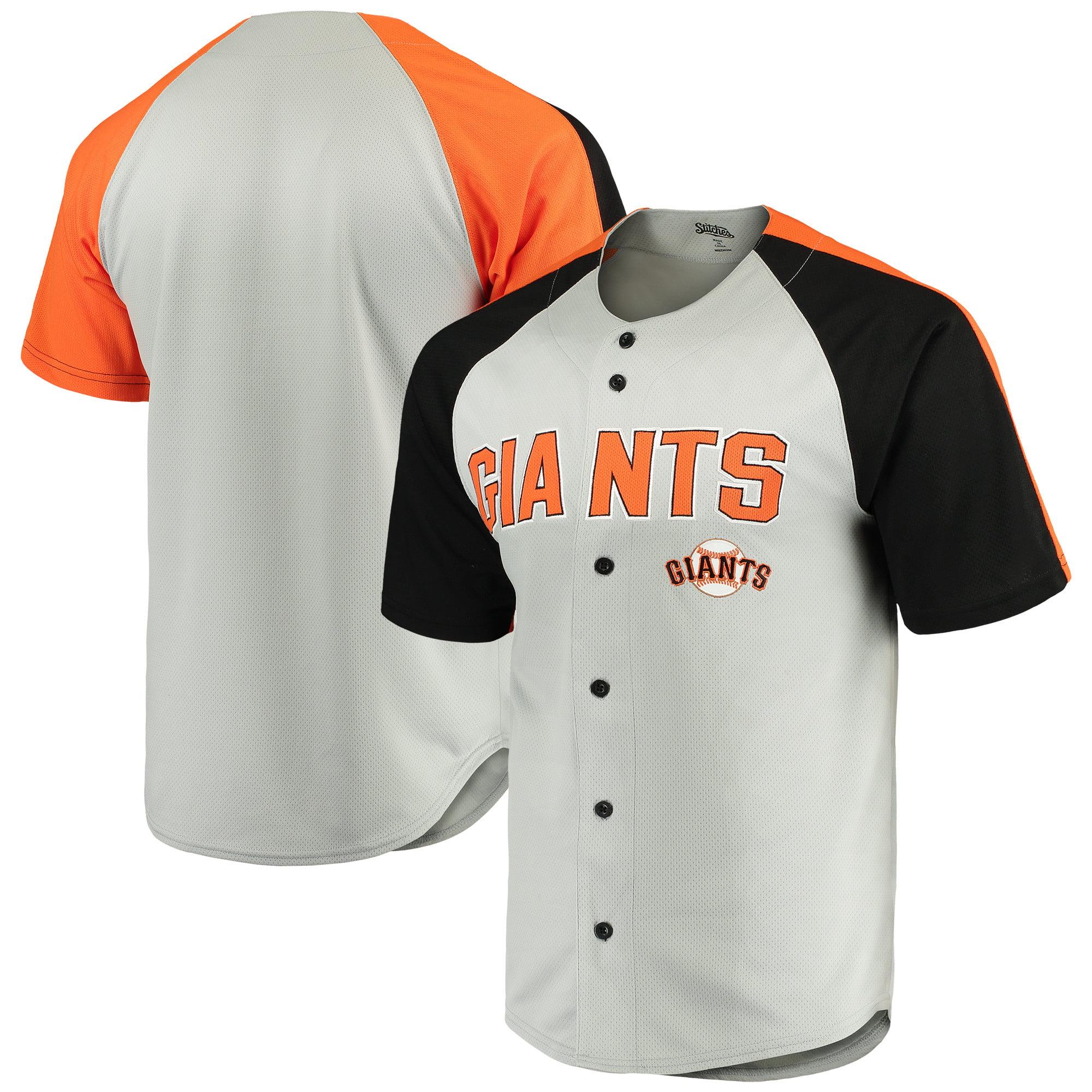 San Francisco Giants Stitches Lightweight Mesh Jersey - Gray/Black