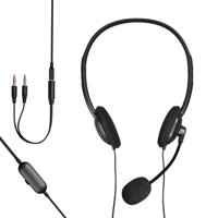 onn. 3.5 mm Stereo Headset With Built-in Microphone