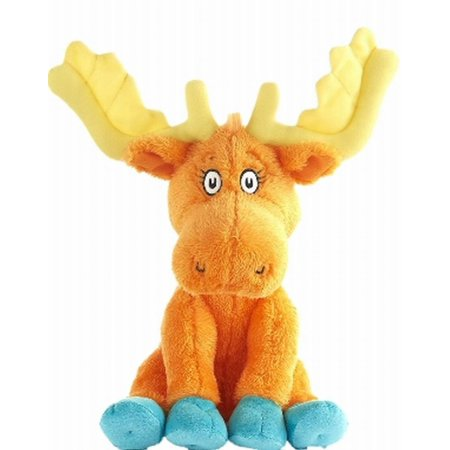 Kohls Cares Thidwick The Big Hearted Moose Stuffed Animal Plush Pal Kohls Cares plush moose from the book,  Thidwick the big hearted moose .  Will make a great plush pal!Thidwick the big hearted moose stuffed animalPlush moose with with big yellow antlersSoft plush with embroidered eyesCharacter in Dr Seuss's bookMeasures 11  tallSurface cleanRecommended for all agesBrand is Kohls