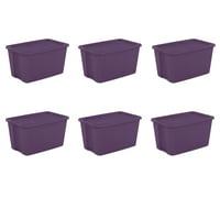 Sterilite, 30 Gal./114 L Tote Box, Moda Purple, Case of 6