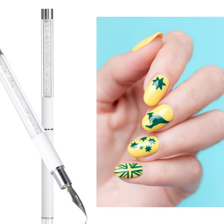 Multi Function Crystal Handle Water Color Painting Nail Art Dotting Point Pen Tool