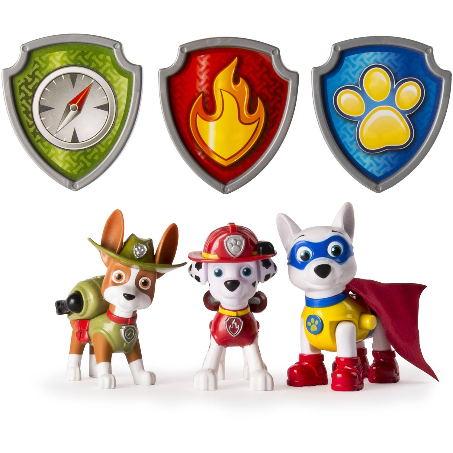 Paw Patrol Action Pack Pups Figure Set, 3pk, Tracker, Apollo, Everest