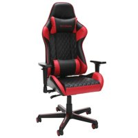 Racecar-style Gaming Chair 275 Lb. Capacity Adjustable Armrests Infinite Angle Lock Reclining- Red