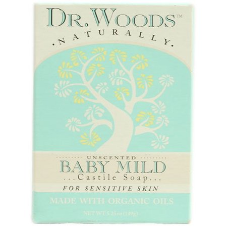 Dr. Woods Naturally Bar Soap Baby Mild Unscented 5.25 oz ()